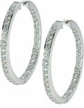 Odellia Large Inside Out Pave CZ Hoop Earrings