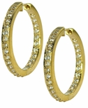 Odellia Mid-Size Inside Out CZ Pave Hoop Earrings