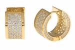 Cirelli Small CZ Huggie Hoop Earrings