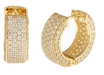 Cirelli Large CZ Hoop Earrings