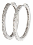 Simian Cubic Zirconia Hoop Earrings