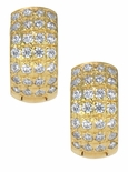 Arellia Wide Pave CZ Huggie Earrings