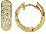 Hubolt CZ Huggie Hoop Earrings