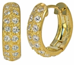 Doublet CZ Pave Hoop Earrings