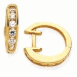 Alexia Channel Set CZ Huggie Hoop Earrings