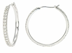 Lalique Pave CZ Hoop Earrings