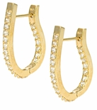 Burberri Pave CZ Hoop Earrings