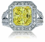Lennon Princess Cut Cubic Zirconia Halo Solitaire