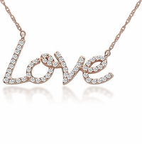 Love  CZ Necklace