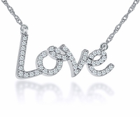 Love CZ Necklace Petite Size
