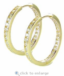 Taylor Inside Out Channel Set CZ Hoops
