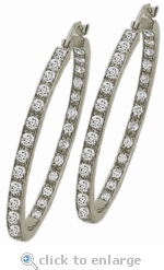 Anniston Large Inside Out CZ Hoop Earrings