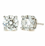 1.25 ct Each Round Ziamond Cubic Zirconia Stud Earrings Limited Edition