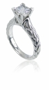 Elle Princess Cut Cubic Zirconia Cathedral Solitaire Ring