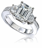 Emerald Cut Trapezoid Cubic Zirconia Ring