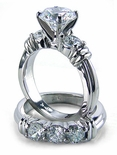 Annuci Round Cubic Zirconia Wedding Set