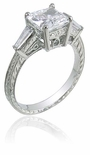 Simmons Princess Cut Cubic Zirconia Estate Ring