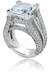 Aston Cubic Zirconia Solitaire CZ Engagement Ring