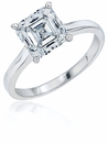 Asscher Cut Cathedral Solitaires Featuring Ziamond Cubic Zirconia