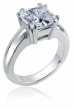 Addison Princess Cut CZ Solitaire Ring