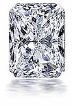 2.5 ct. 9x7mm Emerald Radiant Cut Cubic Zirconia Loose Stone