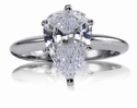 3 Carat Pear Tiffany Style Solitaire Engagement Ring PLATINUM