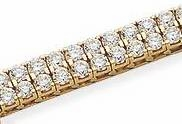 Double Row Tennis Bracelet Featuring Ziamond Cubic Zirconia