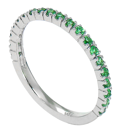 *Limited Edition* Ziamond Stackables White Gold with Emerald
