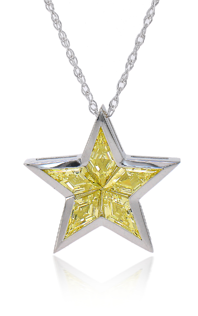 The Ziamond Superstar Pendant in Canary