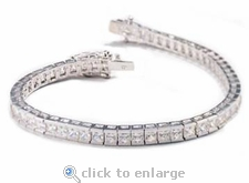 8 ct. Channel Set Princess Cut Bracelet Featuring Ziamond Cubic Zirconia