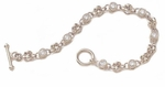 Bezel Toggle Bracelet  (12 points each stone) Featuring Ziamond Cubic Zirconia