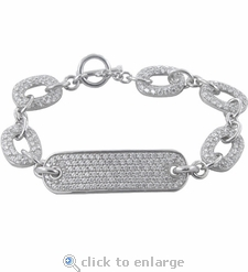 Ziamond ID Toggle Bracelet Featuring Ziamond Cubic Zirconia
