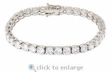 Everett Tennis Bracelet Featuring Ziamond Cubic Zirconia