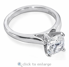 4 ct. Cushion Cut Square Cathedral Solitaire Featuring Ziamond Cubic Zirconia