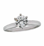 .50 ct. Round Cubic Zirconia Tiffany Style Classic Solitaire Engagement Ring
