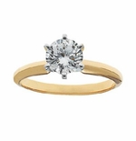 .75 ct. Round Cubic Zirconia Tiffany Style Classic Solitaire Engagement Ring