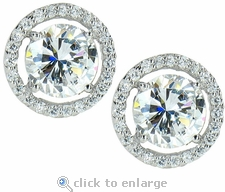 3.5 ct Each LaRue Round Stud Earrings