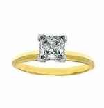 .75 Carat Princess Cut Cubic Zirconia Tiffany Style Classic Solitaire Engagement Ring