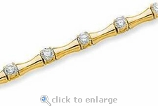 The Bamboo Bracelet Featuring Ziamond Cubic Zirconia