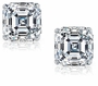 2.5 ct. Each Asscher Cut Cubic Zirconia Stud Earrings