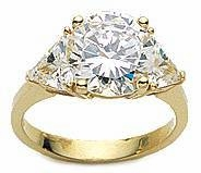 4 ct. Round With Trillions Ring Featuring Ziamond Cubic Zirconia