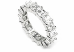 Large .75 Carat Each Asscher Cut Cubic Zirconia Prong Set Eternity Band