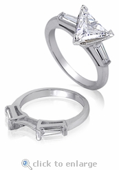4 ct. Trillion Baguette Solitaire With Matching Band