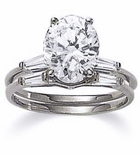 1 ct. Oval Baguette Solitaire With Matching Band