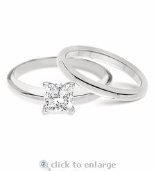 5.5 ct. Princess  Cut Classic Solitaire with Matching Band