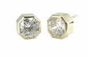 Octavia Octagonal Diamond Quality Cubic Zirconia Bezel Set Stud Earrings