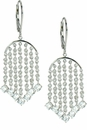 Ellie Chandelier Round Cubic Zirconia Lever Back Drop Earrings