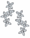 Vera Round Flower Cluster Cubic Zirconia Drop Earrings