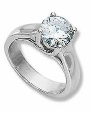 Luccia Engagement Solitaire Rings Featuring Ziamond Cubic Zirconia