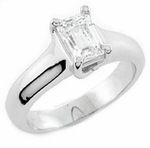 Ziamond Emerald Cut Luccia Solitaires